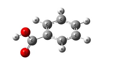 Formula benzoato di potassio