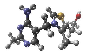 Struttura tridimensionale della tiamina