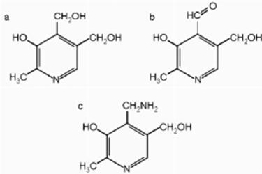 struttura della vitamina B6