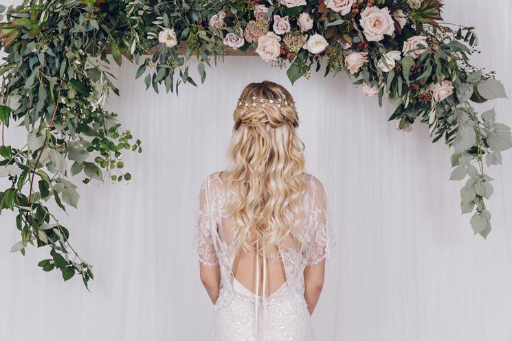 Acconciature floreali sposa