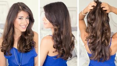 capelli mossi con la piastra