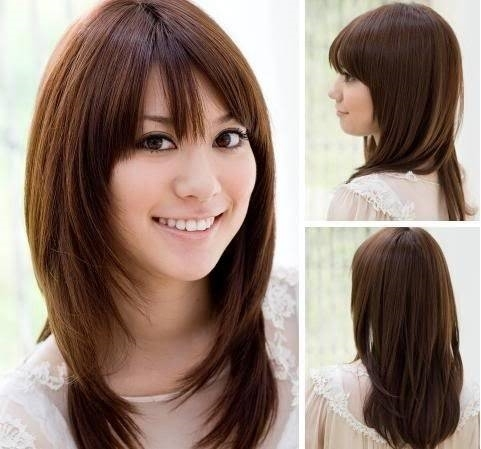 Tagli di capelli medi per viso lungo