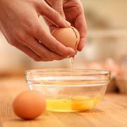 Uovo con albume e tuorlo