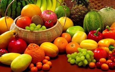 La composizione della frutta è variegata
