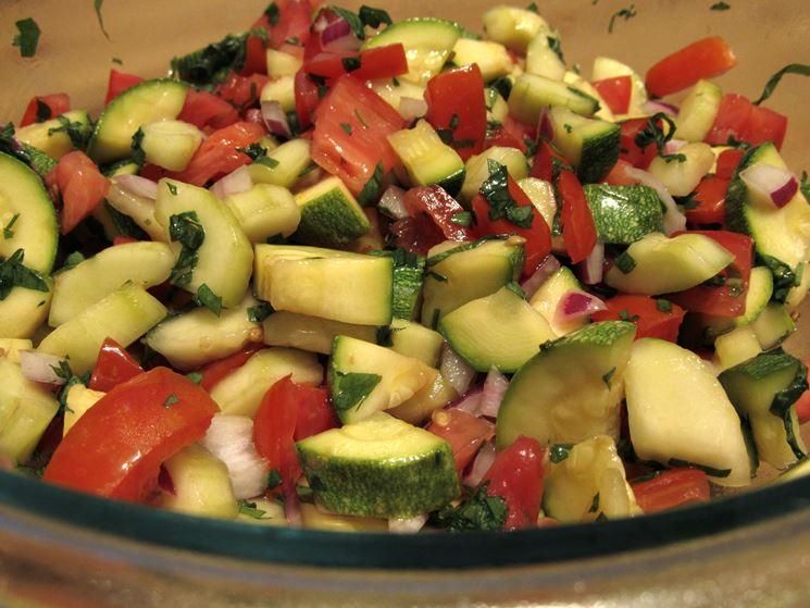 Insalata zucchine lesse
