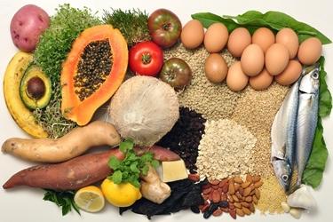 Vari tipi di alimenti