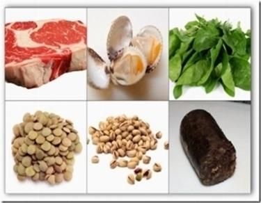 il ferro negli alimenti