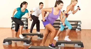 allenamento step aerobica