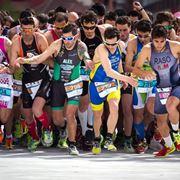 partenza competizione duathlon