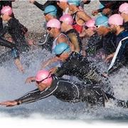 La partenza del triathlon sprint