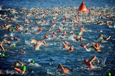 Prova di nuoto nel triathlon<p />