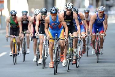 Prova di bici nel triathlon<p />