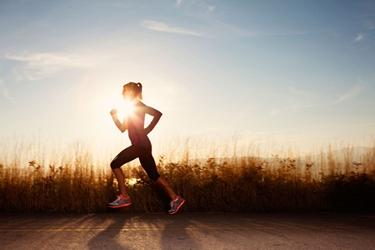 Runner con postura ideale