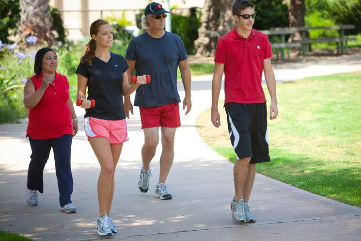 Camminata di gruppo