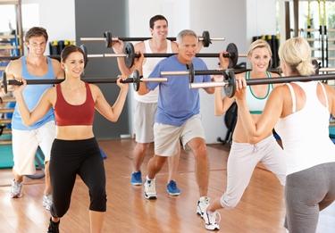 Ginnastica aerobica con pesi