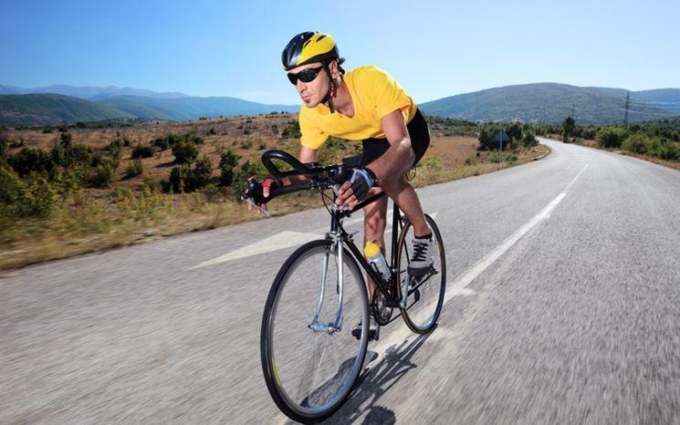 Ciclista con GPS in azione