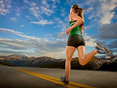 Allenamento di corsa su strada