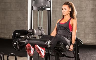 allenamento donna con leg extension