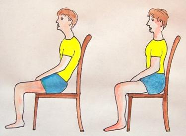 Sedersi in maniera corretta
