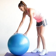 addominali con ball fitness