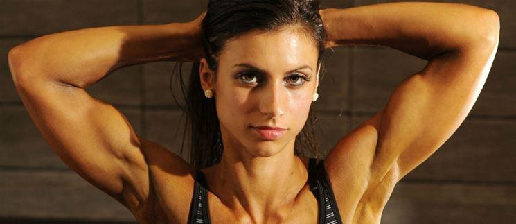 Donne bicipiti allenamento