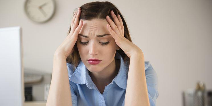 Donna in stato di stress