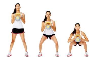 Squat per i muscoli delle ginocchia