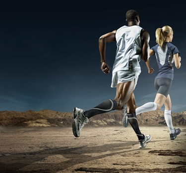 correre con calze a compressione