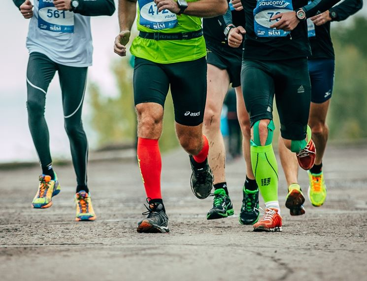 Runners con calze booster