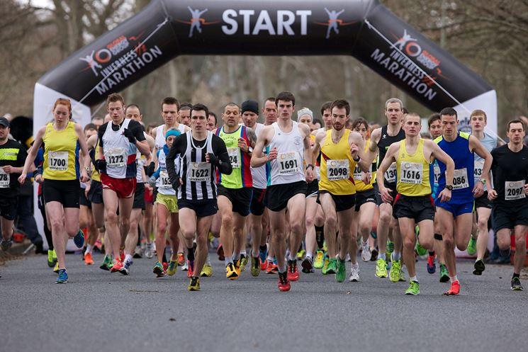 Inizio di una maratona
