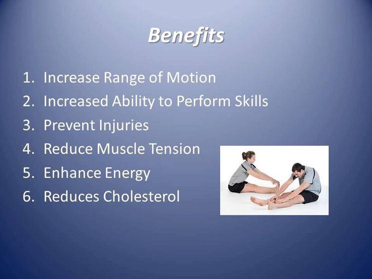 Lista dei benefici dello stretching
