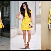Tre outfit in giallo canarino