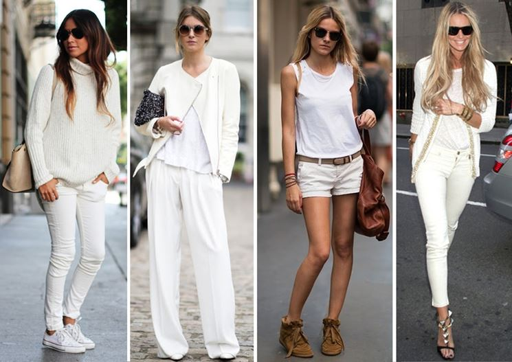 Outifit in bianco e in pizzo
