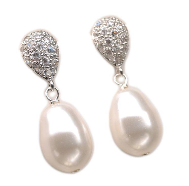 Orecchini perle a pendaglio a forma di goccia