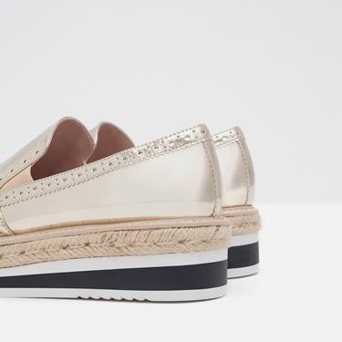 scarpe basse con plateau