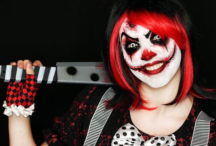 Clown spaventoso halloween