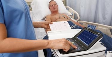 Paziente durante ECG