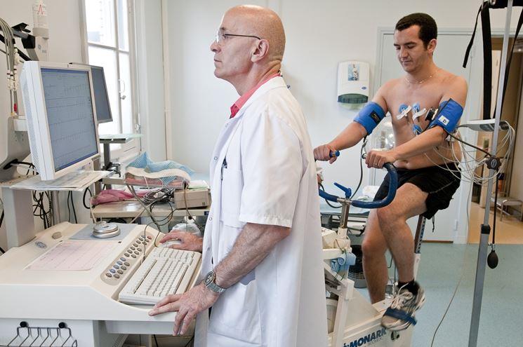 Paziente sottoposto a ECG