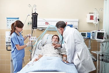 Paziente infartuato in ospedale<p />