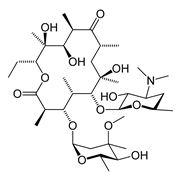 Struttura chimica dell'eritromicina