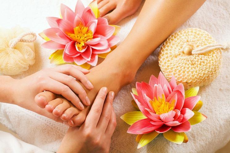 Esempio di massaggio dei piedi