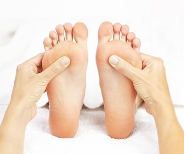Massaggio plantare bilaterale