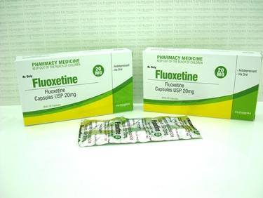 Confezioni di fluoxetina in capsule