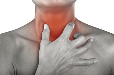 Arrossamento della mucosa faringea