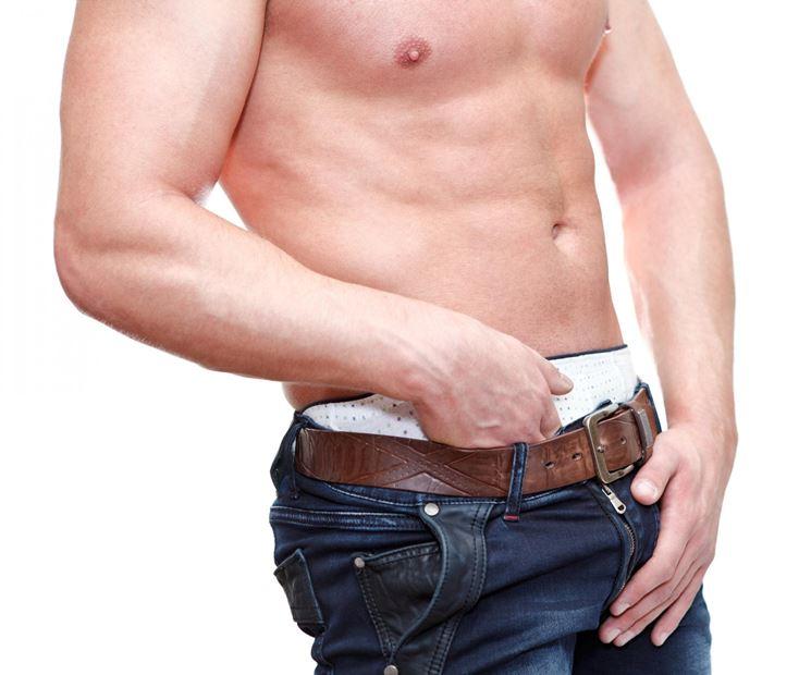 Infiammazione all'inguine maschile