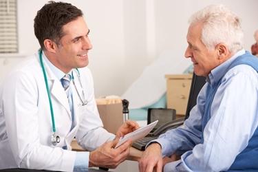 Paziente al momento di una visita