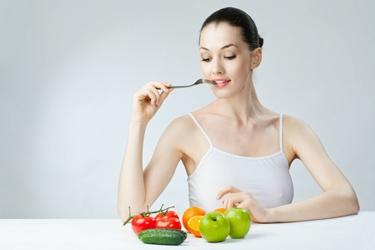 Una donna a dieta
