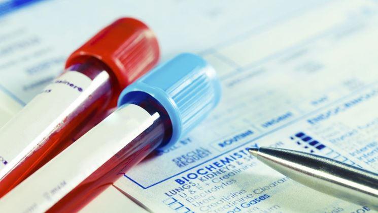 Campioni di sangue per la valutazione dell'hgb emoglobina